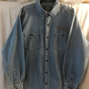 Harley Davidson Denim Men's Shirt XL